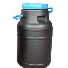 Бидон пластиковый чёрный 40л непищевой