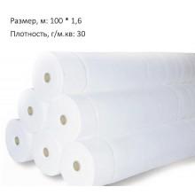 Агроволокно белое, 30г/м.кв, 100 метров, 1,6 ширина