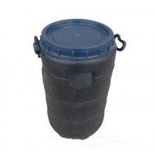 Бидон пластиковый чёрный 50л(Г) непищевой