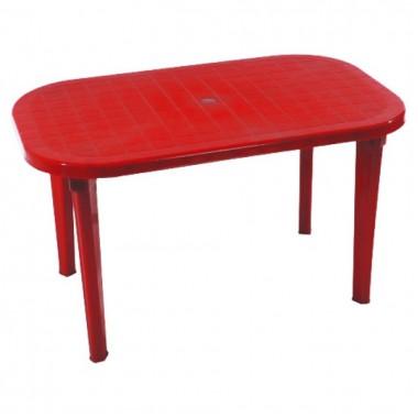 Купить Стол овальный, красный (на 6 персон) в Харькове