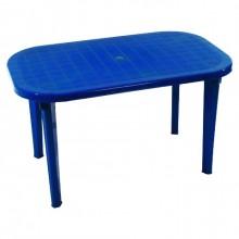 Стол овальный, синий (на 6 персон)